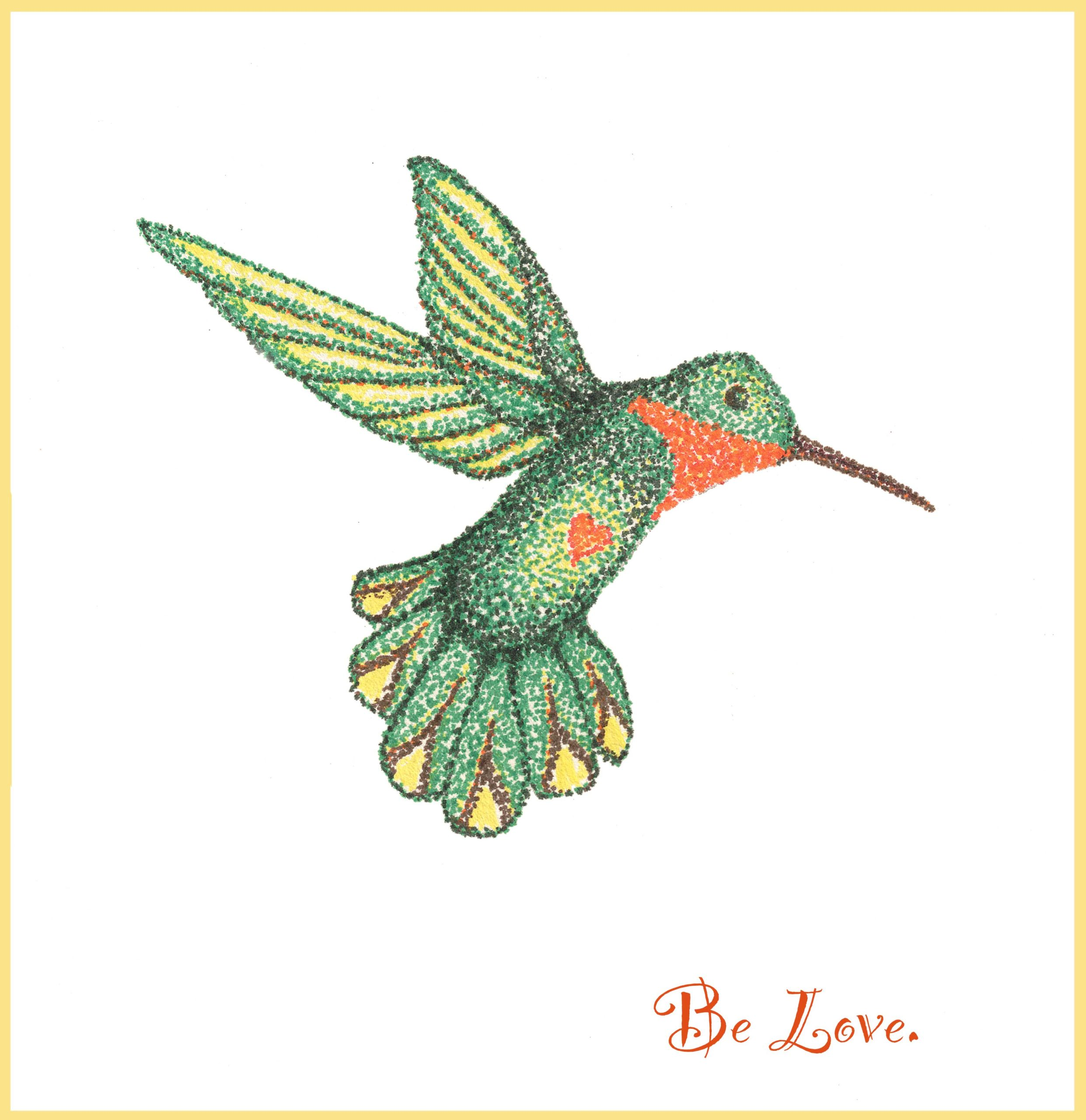 """Joyful Hummer - Be Love"" by Michele Molitor"